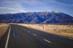 Route d'île du sud, Nouvelle-Zélande Photographie stock