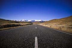 Route d'île du sud, Nouvelle-Zélande Photo stock