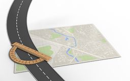 route 3d Photographie stock