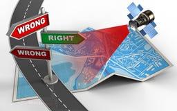 route 3d Photographie stock libre de droits