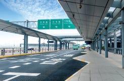 Route d'aéroport de Changhaï Pudong Photo libre de droits