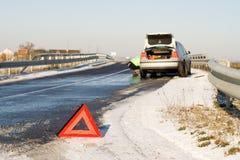 route d'accidents Images libres de droits