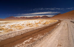 Route d'Altiplano Photographie stock