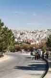 Route d'Amman en Jordanie Images libres de droits