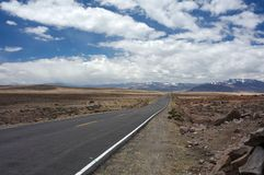 Route d'Ands Photographie stock libre de droits