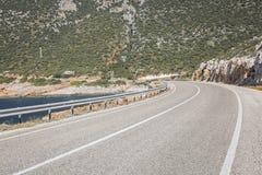 Route d'Antalya Kas-Patara entre Photographie stock libre de droits