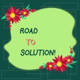 Route d'apparence de signe des textes à la solution Chemin conceptuel de photo vous allez résoudre le problème ou le blanc diffic illustration libre de droits