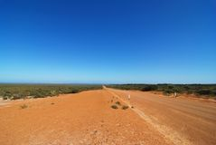 Route d'Australien à l'intérieur Photo stock