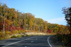 Route d'automne de voyage Images stock