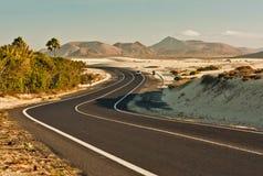 Route d'enroulement dans le désert Photographie stock libre de droits