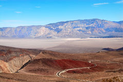 Route d'enroulement Death Valley photo stock