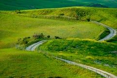 Route d'enroulement en Toscane Photo libre de droits