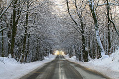 Route d'hiver Images stock