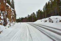 Route d'hiver de Milou photo stock