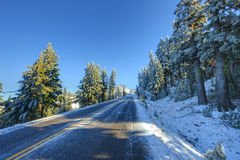 Route d'hiver de Milou Photographie stock libre de droits