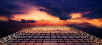 Route d'incendie dans le ciel Photo stock