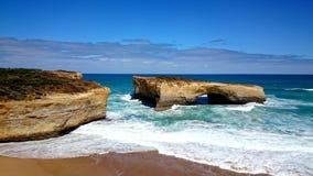 Route d'océan de voûte de Londres grande @, Victoria, Australie Photographie stock