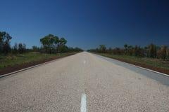 Route d'omnibus de désert Photo stock
