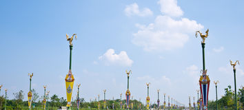 Route d'Utthayan, Bangkok Images stock