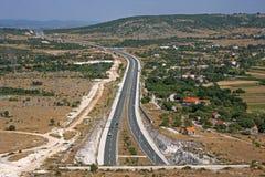 Route Dalmatina par la Dalmatie Images stock
