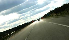 Route - danger en avant ! images libres de droits