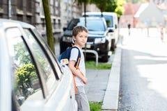 Route dangereuse à l'école photos libres de droits