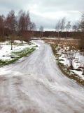 Route dangereuse Photos libres de droits