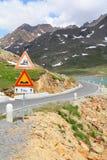 Route dangereuse image libre de droits