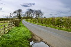 Route dans Bedfordshire Photo libre de droits