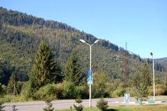 Route dans Carpathiens Images stock