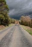 Route dans Corbieres, France photo libre de droits