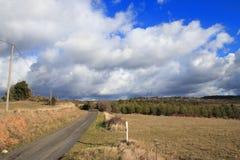 Route dans Corbieres, France photographie stock