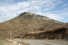 Route dans Corbieres, France image libre de droits
