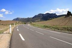 Route dans des orientales de Pyrénées, Frances photographie stock libre de droits