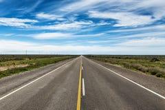 Route dans la péninsule de Valdes Photos libres de droits