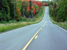 Route dans la saison d'automne Photos stock