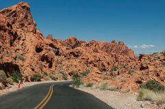 Route dans la vallée du feu Photo stock
