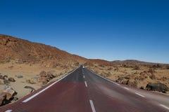 Route dans le cordon stérile Images libres de droits