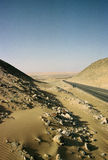 Route dans le désert photo stock