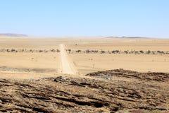 Route dans le désert Image libre de droits