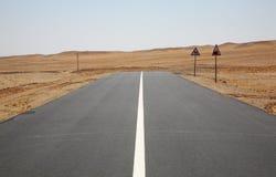Route dans le désert de Gobi près de Sainshand mongolia Photos stock
