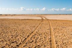 Route dans le désert en parc national Ras Mohammed Photographie stock libre de droits