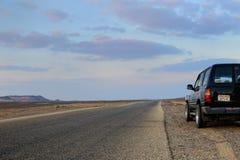 Route dans le deset Photographie stock libre de droits