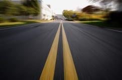 Route dans le mouvement Images stock