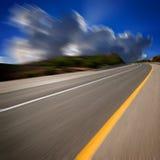 Route dans le mouvement Image stock