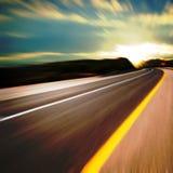 Route dans le mouvement Photos libres de droits