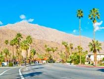 Route dans le Palm Springs Photos libres de droits