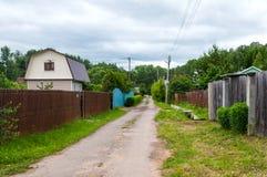 Route dans le village Image libre de droits