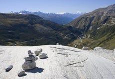 Route dans les Alpes Image stock