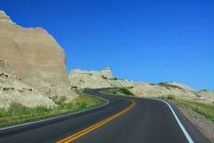 Route dans les bad-lands Image libre de droits
